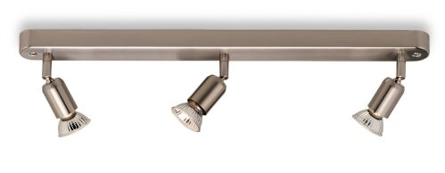 Firstlight 7003BS Brushed Steel Runner 3 Light Bar